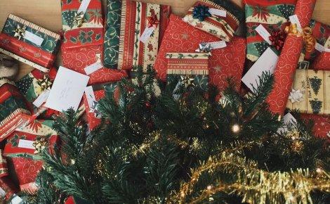 Cadeaux, sapin, noel, offrir