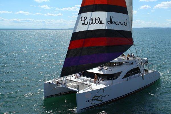 Balade en mer avec Le Providence Maxi catamaran
