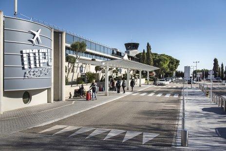 En avion - aeroport Montpellier