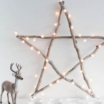 déco Noël étoile bois