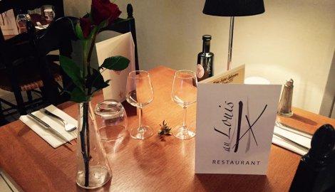 table restaurant Au Louis Ix